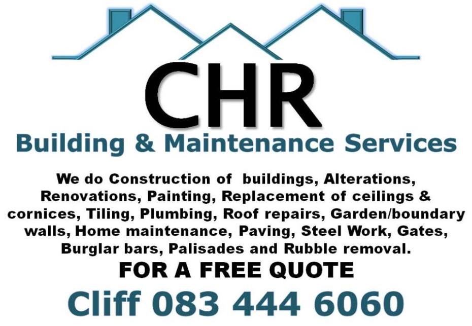Building Maintenance Services : Chr building and maintenance services withlovefromafrica